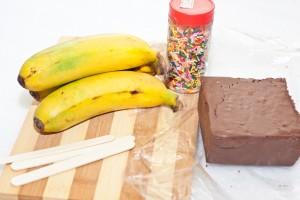 Frozen Chocolate Covered Banana Treats 1