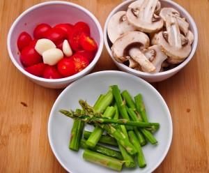 Pasta With Mushroom & Asparagus 1