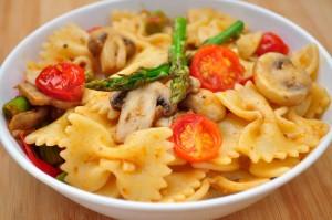 Pasta With Mushroom & Asparagus 7